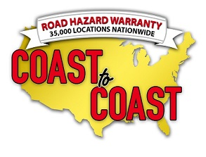 Road Hazard Warranty - 35,000 Locations Nationwide Coast to Coast