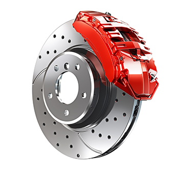 Red brake caliper in Scarborough, ON