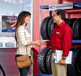 Shop for Cooper tires at The Tire Store Auto Care