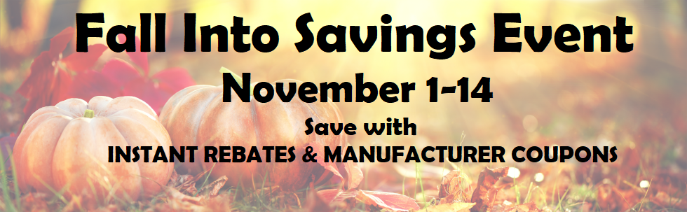 Tire instant rebate and manufacturer savings event