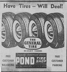 Pond Tire Deals Ad