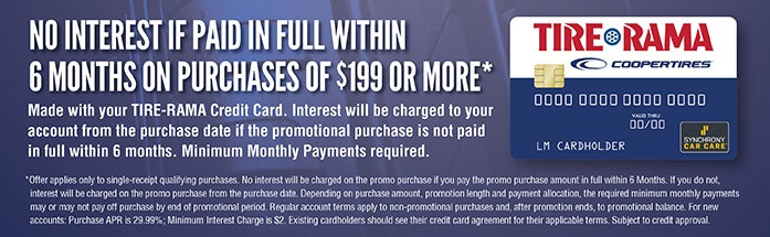 Financing Tire Rama Credit Card
