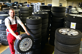 Tires in storage in Guelph, ON