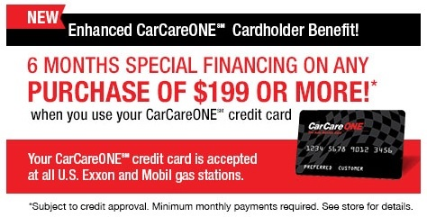 CarCareONE Credit Card in Charlotte, NC