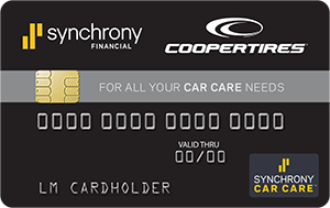 special financing available with the cooper tires credit card