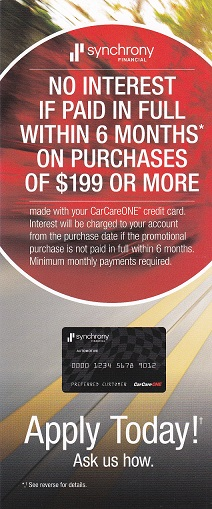 CarCareONE Financing in Martinez, GA