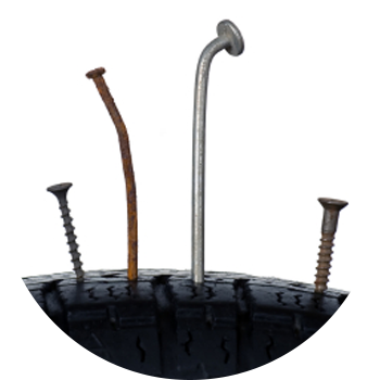 Punctured tire repair in Forney, TX